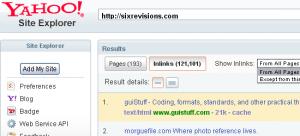 Mengenal Yahoo Site Explorer